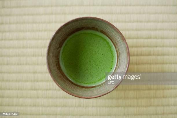 Maccha tea in Japanese tea cup