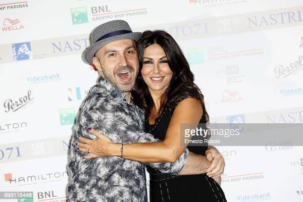 Maccio Capatonda and Sabrina Ferilli attends the nominees presentation of Nastri D'Argento at Maxxi Museum on June 6 2017 in Rome Italy