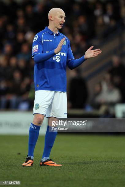 Macclesfield Town's Danny Whittaker during the The FA Cup with Budweiser Second Round match between Macclesfield Town and Brackley Town at The Moss...