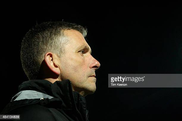 Macclesfield Town's Manager John Askey during the The FA Cup with Budweiser Second Round match between Macclesfield Town and Brackley Town at The...