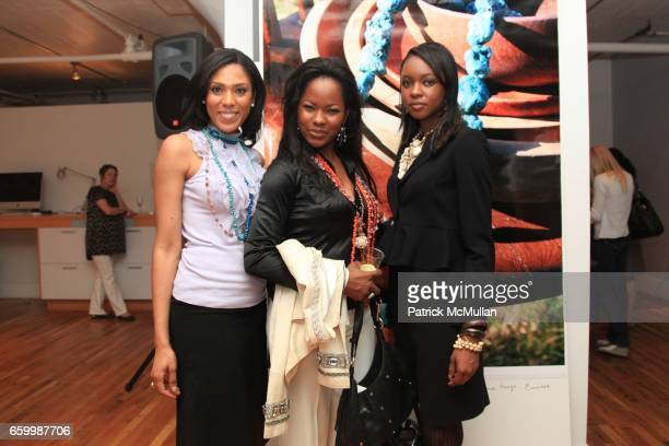 Macdella Cooper Farrah Fogerty and Nnenna Nnoli attend Tribal Societé Launch at 333 Hudson St on May 14 2009 in New York