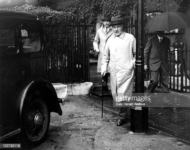 MacDonald Downing Street 25 September 1935 James Ramsay MacDonald leaving a cabinet meeting at Downing Street MacDonald was the first British Labour...