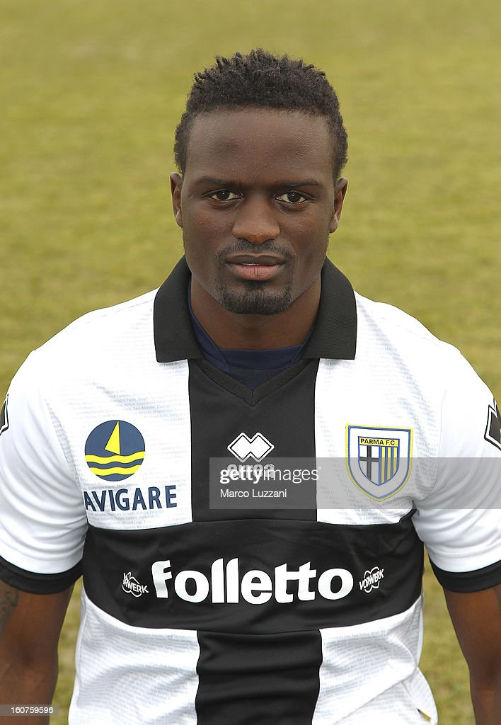 MacDonald Mariga of Parma FC poses with the club shirt during new signings official portraits at the club's training ground on February 5, 2013 in Collecchio, Italy.