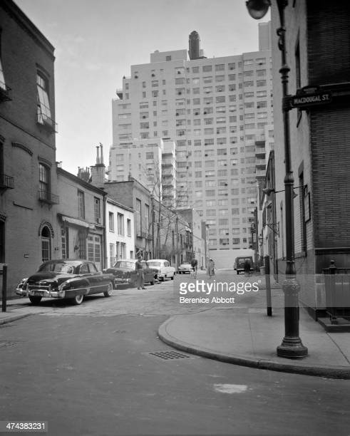 MacDougal Alley and 2 Fifth Avenue in the Background Greenwich Village New York circa 1945