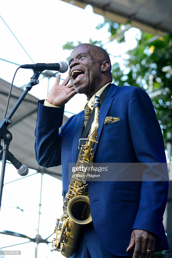 Maceo Parker performs onstage at Waterfront Blues Festival at Tom McCall Waterfront Park on July 1 2016 in Portland Oregon