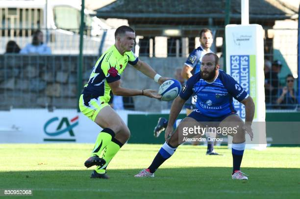 AJ MacGinty of Sale during the preseason match between Castres Olympique and Sales Sharks at on August 12 2017 in Rodez France