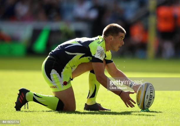 MacGinty of Sale Sharks in action during the Aviva Premiership match between Wasps and Sale Sharks at The Ricoh Arena on September 2 2017 in Coventry...