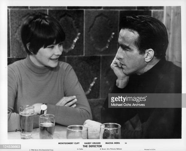 macha meril and montgomery clift in the defector
