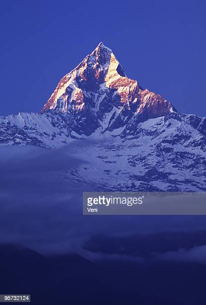 Machhapuchre (Fishtail) Mountain in the Annapurna Himalaya Range