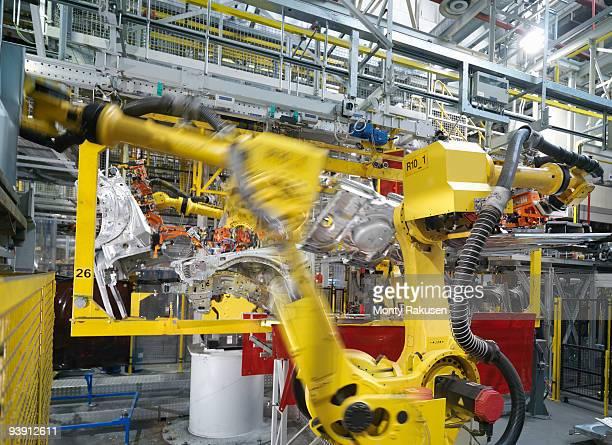 Machine Assembling Car In Plant