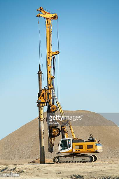 Machine Digging Foundational Pillars