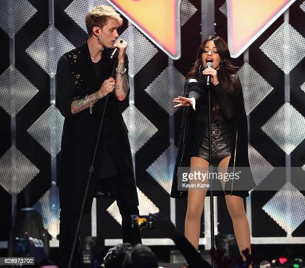 Machine Gun Kelly and Camila Cabello at Madison Square Garden on December 9 2016 in New York City