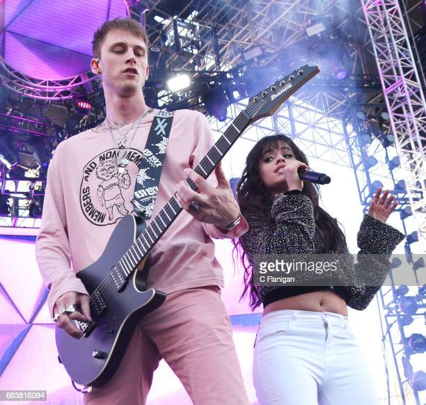 Machine Gun Kelly and Camila Cabello perform onstage during 1027 KIIS FM's 2017 Wango Tango at StubHub Center on May 13 2017 in Carson California