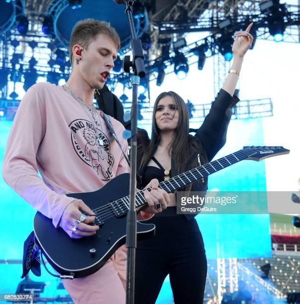 Machine Gun Kelly and Hailee Steinfeld perform at 1027 KIIS FM's 2017 Wango Tango at StubHub Center on May 13 2017 in Carson California