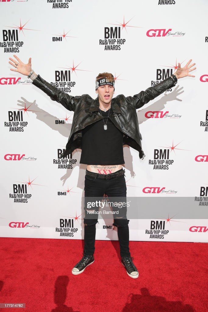 Machine Gun Kelly attends the 2013 BMI RB/HipHop Awards at Hammerstein Ballroom on August 22 2013 in New York City
