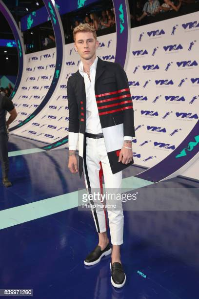 Machine Gun Kelly attends the 2017 MTV Video Music Awards at The Forum on August 27 2017 in Inglewood California