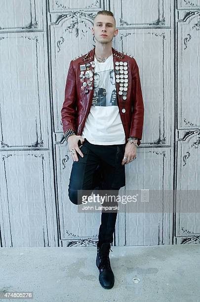 Machine Gun Kelly attends the AOL BUILD Speaker Series at AOL Studios on May 26 2015 in New York City