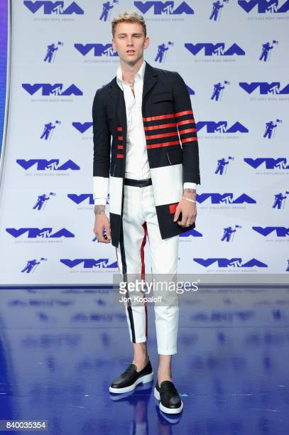 Machine Gun Kelly during the 2017 MTV Video Music Awards at The Forum on August 27 2017 in Inglewood California