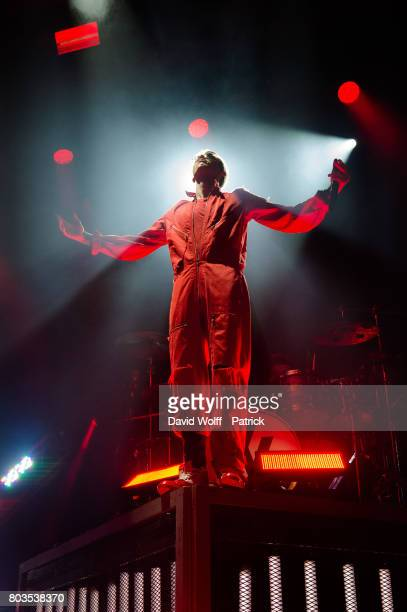 Machine Gun Kelly performs at Elysee Montmartre on June 29 2017 in Paris France