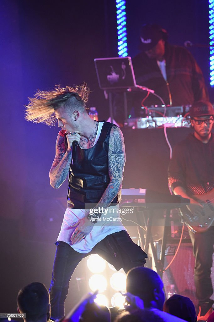 Machine Gun Kelly performs during the 'Power' season two premiere event with a special performance from 50 Cent GUnit and other guests on June 2 2015...