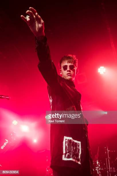 Machine Gun Kelly performs in concert at sala Razzmatazz 2 on July 5 2017 in Barcelona Spain
