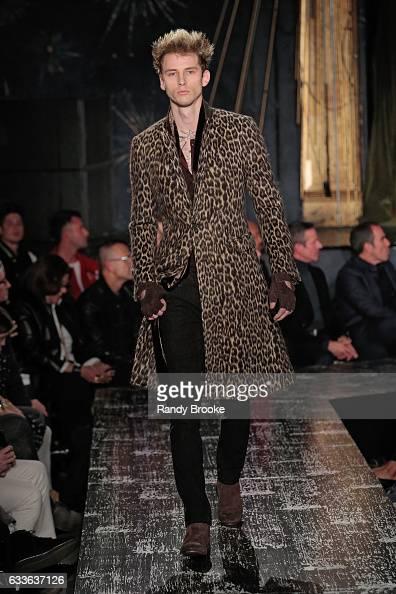 Machine Gun Kelly walks the runway during the John Varvatos NYFW Men's fashion show on February 2 2017 in New York City