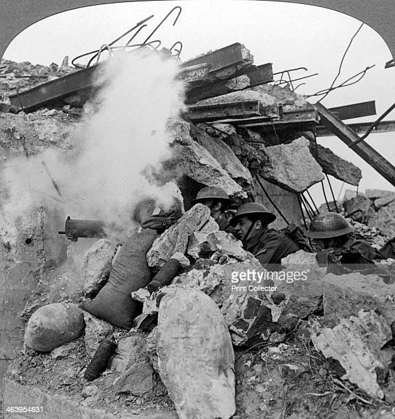 Machine gun nest Poelcappelle Belgium World War I 19141918 Poelcappelle was the site of a battle during the larger Battle of Passchendaele in 1917...