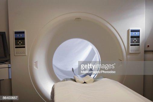 MRI machine in hospital : Stock Photo