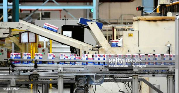 A machine in the packaging area at Tate Lyle sugar refinery in Silvertown East London