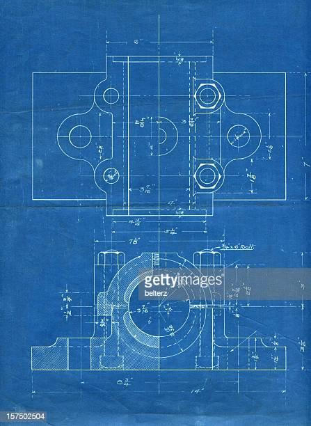 Maschinenteil Technische Zeichnung