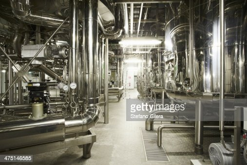 Machinery in a brewery