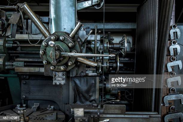 Machinery in metal shop