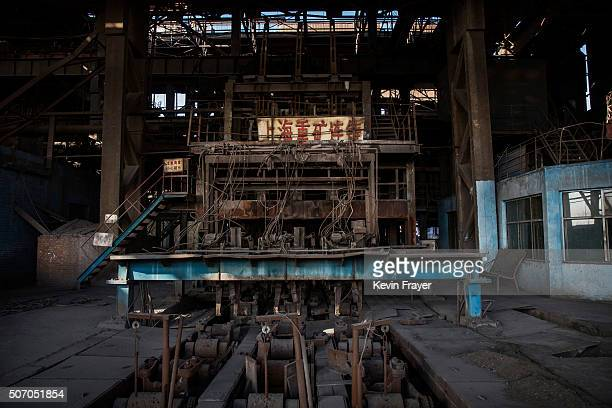 Machinery sits idle in the abandoned Qingquan Steel plantwhich closed in 2014 and became one of several socalled 'zombie factories' on January 26...