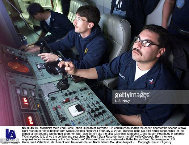 Machinist Mate 2Nd Class Robert Duncan Of Torrance Ca Continues To Search The Ocean Floor For The Second Of Two Flight Recorders 'Black Boxes' From...