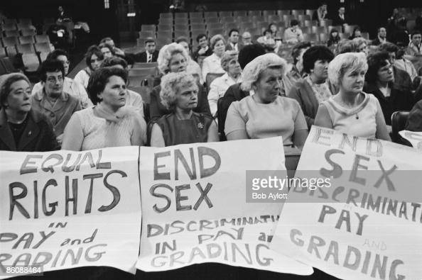 Machinists working for Ford Motors attending a Women's Conference on equal rights in industry at Friends House in Euston 28th June 1968