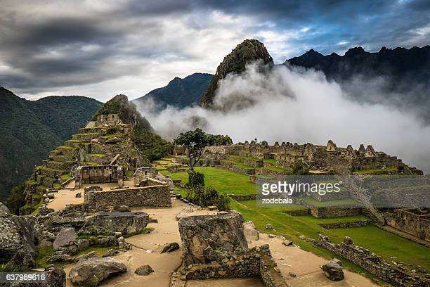 Machu Picchu at Sunrise and Clouds