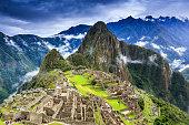 Machu Picchu, Peru. UNESCO World Heritage Site. One of the New Seven Wonders of the World