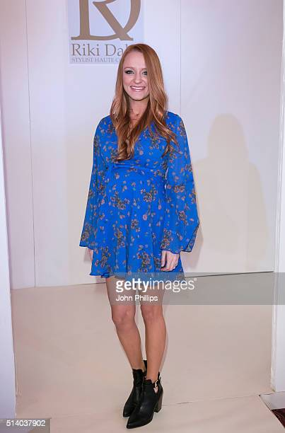Maci Bookout attends the Bridal Fashion Show at The Grosvenor House Hotel on March 6 2016 in London England