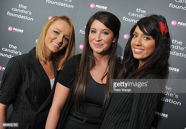 Maci Bookout Bristol Palin and Farrah Abraham attend ' The Harsh Truth Teen Moms Tell All' Town Hall Meeting sposored by The Candie's Foundation at...