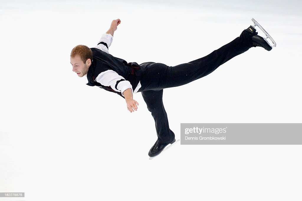 Maciej Cieplucha of Poland competes in the Men Free Skating competition during day three of the ISU Nebelhorn Trophy at Eissportzentrum Oberstdorf on September 28, 2013 in Oberstdorf, Germany.