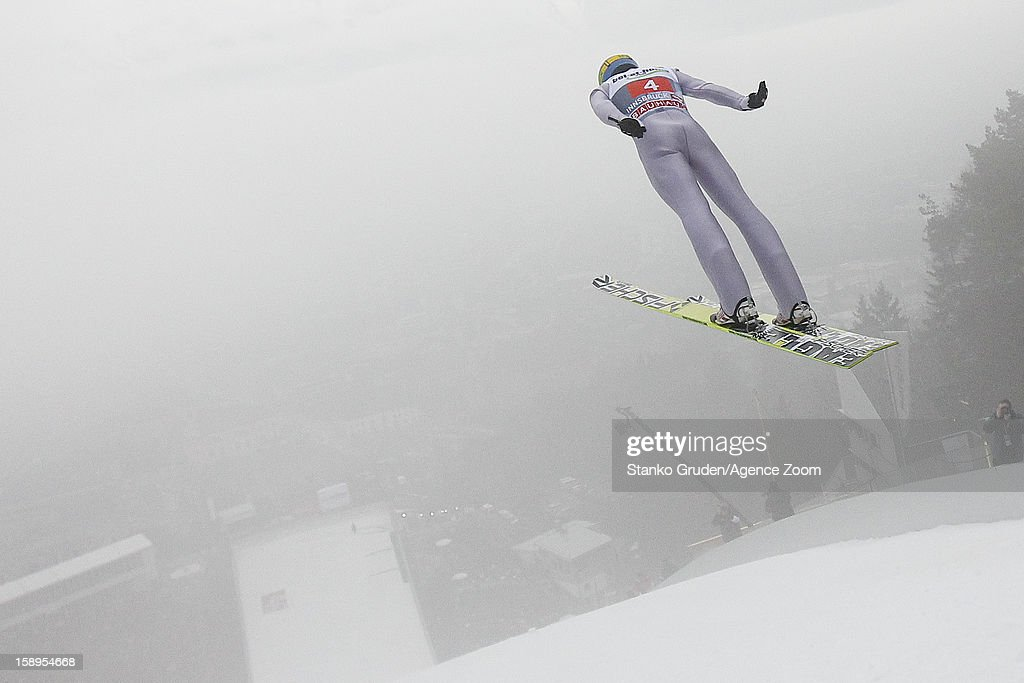 Maciej Kot of Poland during the FIS Ski Jumping World Cup Vierschanzentournee (Four Hills Tournament) on January 04, 2013 in Innsbruck, Austria.