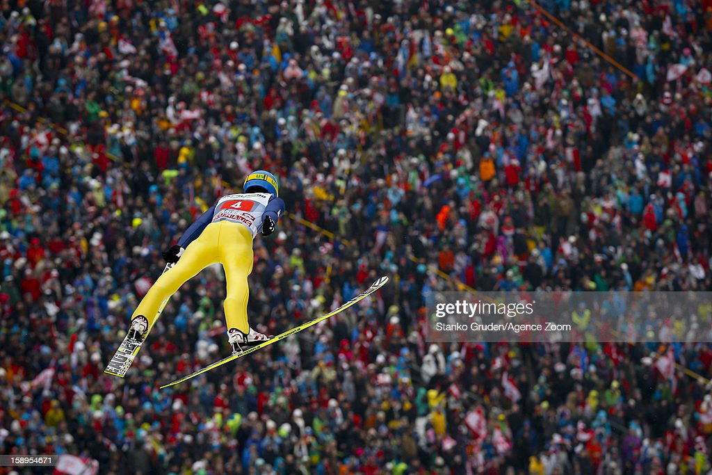 Maciej Kot of Poland during the FIS Ski Jumping World Cup Vierschanzentournee (Four Hills Tournament) on January 04, 2013 in Innsbruck, Austria.