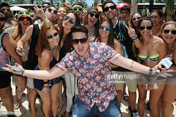DJ Mack during the Y100 cool for the summer pool party held at the Fontainebleau on July 2 2015 in Miami Beach Florida