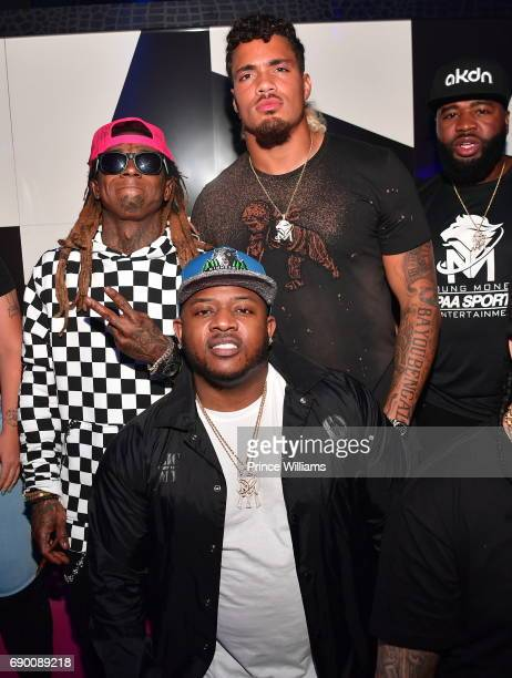 Mack Maine Lil Wayne and Duke Riley attend Duke Rileys signing party at Gold Room on May 27 2017 in Atlanta Georgia