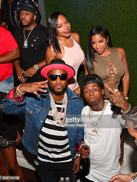 Mack Maine Monyetta Shaw Young Jeezy Lil Wayne and Antonia 'Toya' Wright attend the BET Hip Hop Awards 2016 Weekend Takeover Hosted By DJ Khaled Rick...