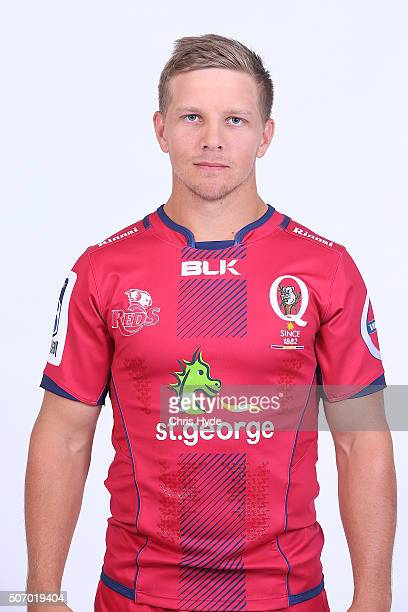 Mack Mason poses during the 2016 Queensland Reds headshots session on January 27 2016 in Brisbane Australia