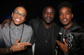 Mack Wilds Akon and Luke James attend NEYO Compound Entertainment 6th Annual GRAMMY Midnight Brunch at Lure on January 25 2014 in Hollywood California