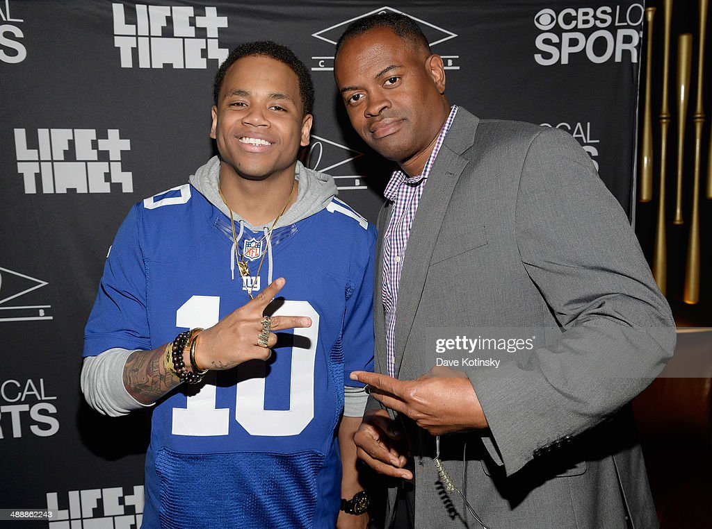 Mack Wilds (L) and Byron Ward attend CBS Local Sports' Draft Party on May 8, 2014 in New York City.