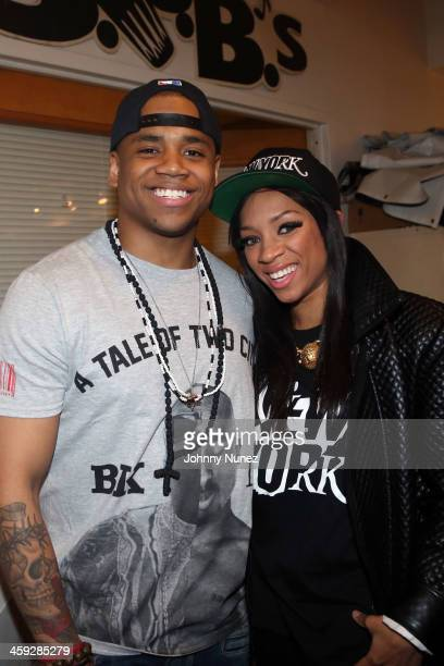 Mack Wilds and Lil Mama attend Mack Wilds' Home for the Holidays event at SOB's on December 23 2013 in New York City