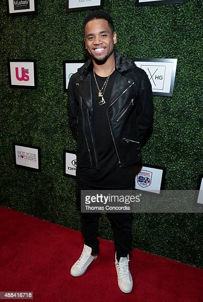 Mack Wilds attends Angela Simmons Presents Foofi and Harlem Globetrotters 90th Anniversary Collection at KIA STYLE360 on September 15 2015 in New...